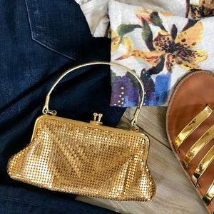 CACHE Gold Sequin Wristlet